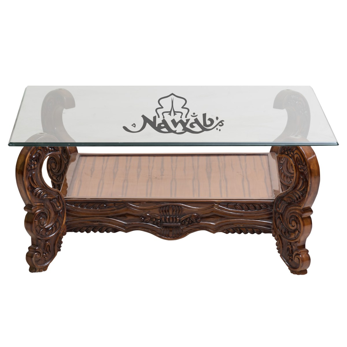 2-seater-solid-teak-wood-customised-carving-walnut-shaded-pu-polish-jacquart-upholstery-centre-table-glass-top-with-carving-on-4-sides-coffee-table