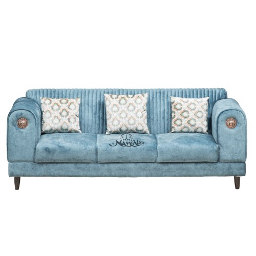3 Seater Suede fabric wooden frame with foam padding