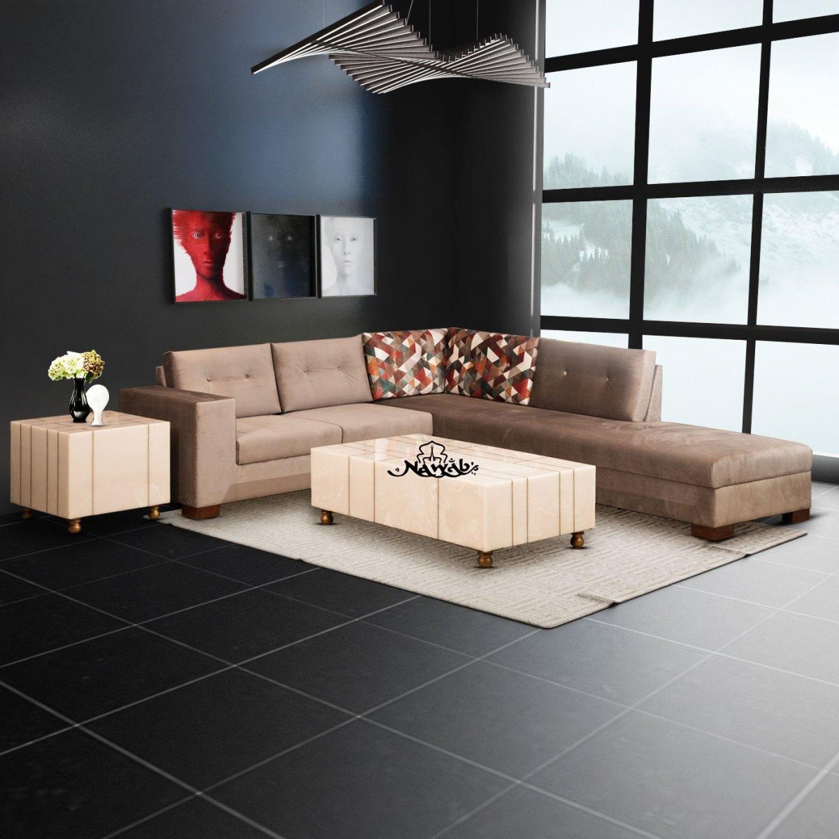 Velvet-fabric-wooden-frame-with-foam-padding-teak-wood-legs-background