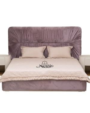 Velvet upholstery laminated inside hydraulic bed