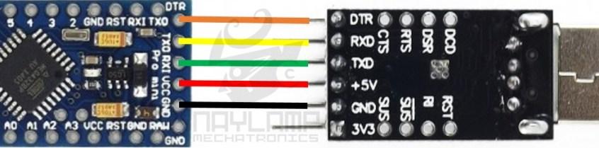 Arduino Pro Mini y CP2102