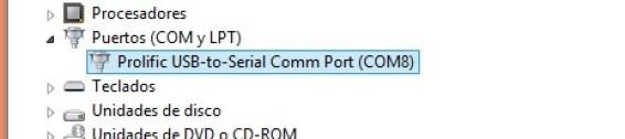 Puerto serial COM del PL2303