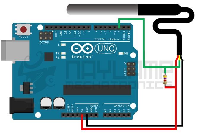 conexion DS18B20 y arduino
