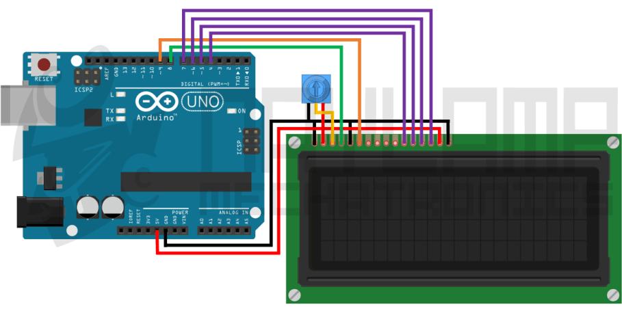 Conexion LCD 20x4 y Arduino