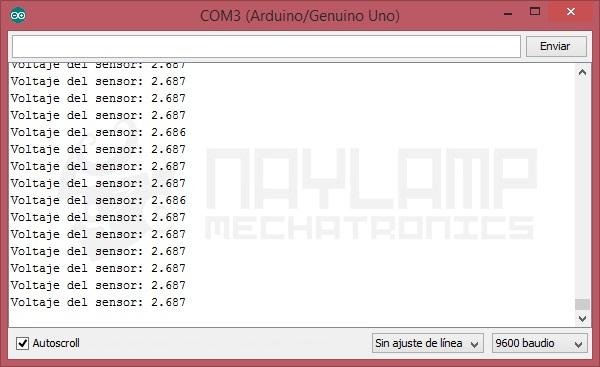 ACS712 lectura de voltaje para 1A