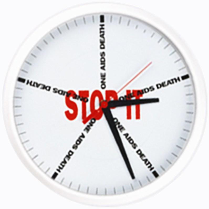 Every 12 Minutes, 1991, clock movement, aluminum, 11 inches diameter