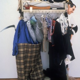 Equipment for a Shameful Epic, 1993, mixed media, 84 x 63 x 32 inches