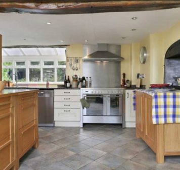 Modern kitchen in historic Welford house
