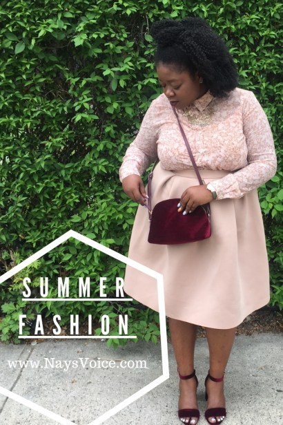 plus size black women wearing pink and burgundy outfit. pink scuba pants from charlotte russe and pink floral top from forever 21