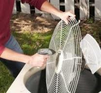 cleaning external ac unit