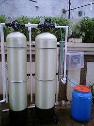 outdoor water softener unit