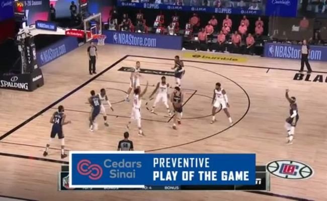 Cedars Sinai Preventive Play Of The Game Clippers Vs