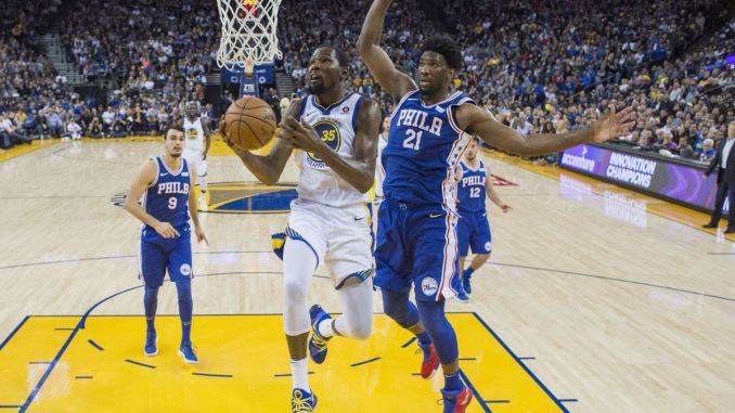 Golden State Warriors, Kevin Durant, Philadelphia 76ers, Joel Embiid