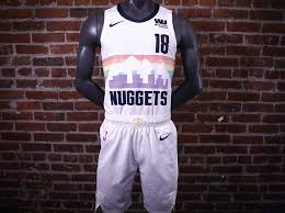 f17cc2610 The return of the beloved rainbow uniforms. The rainbow has always been the  Nuggets most famous and best selling jersey across all eras