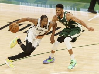 Giannis Antetokounmpo, Kevin Durant, Kyrie Irving, James Harden, NBA Playoffs, Milwaukee Bucks, Brooklyn Nets