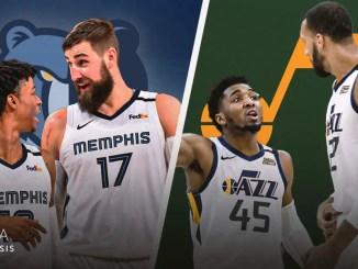 Memphis Grizzlies, Utah Jazz, Donovan Mitchell, Rudy Gobert, Ja Morant, Jonas Valanciunas