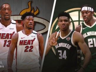 Milwaukee Bucks, Miami Heat, Jimmy Butler, Bam Adebayo, Giannis Antetokounmpo, Jrue Holiday