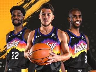 Phoenix Suns Chris Paul, Devin Booker, Deandre Ayton, NBA Playoffs