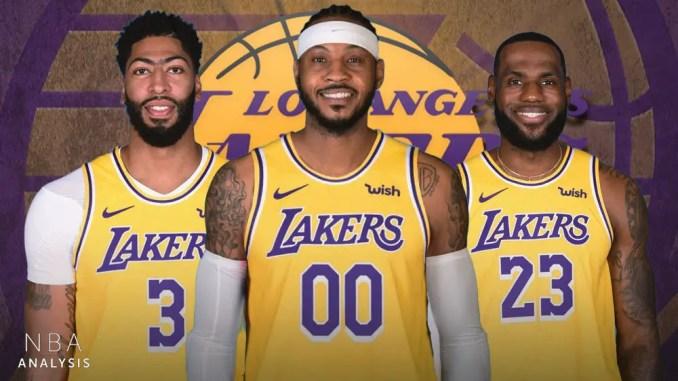 Carmelo Anthony, LeBron James, Anthony Davis, Lakers
