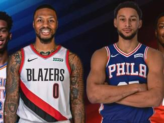 Ben Simmons, Philadelphia 76ers, Damian Lillard, Portland Trail Blazers, Kyle Lowry, Toronto Raptors, Shai Gilgeous-Alexander, Oklahoma City Thunder