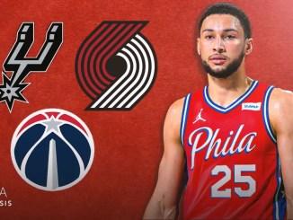 Trail Blazers, Spurs, Wizards, 76ers, Ben Simmons