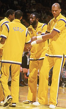 James Worthy, Magic Johson, Jabbar, Lakers