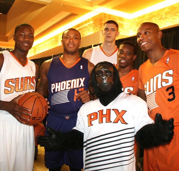 Camisetas NBA Phoenix Suns Alex Len Icon 2018 Violeta ...