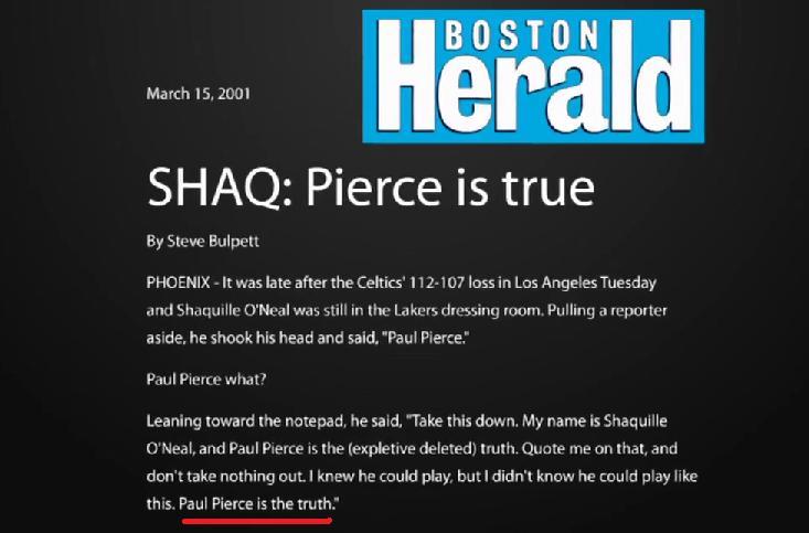 Paul Pierce The truth