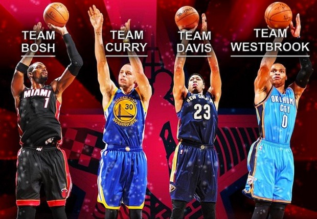 participantes concurso tiro All-Star 2015 NBA