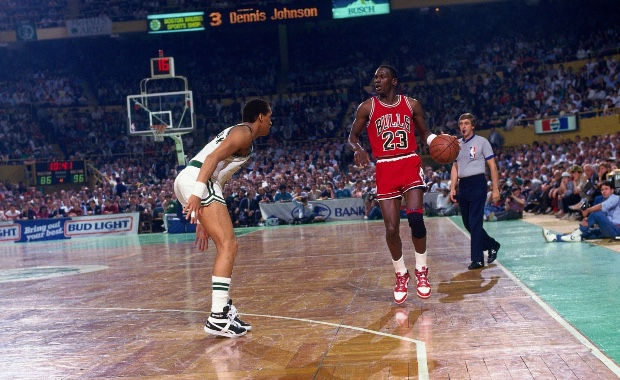 Michael Jordan en el Boston Garden