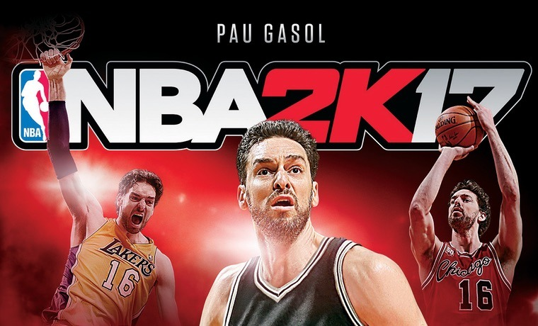 Pau Gasol portada NBA 2K17 post