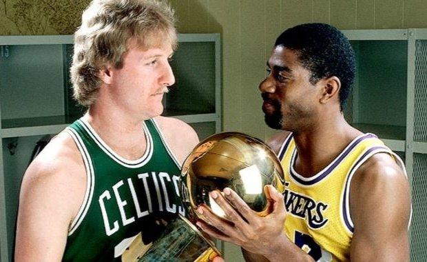 Larry Bird y Magic Johnson
