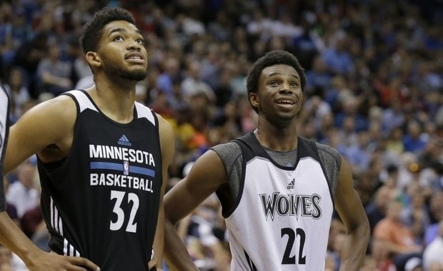 Karl-Anthony Towns y Andrew Wiggins