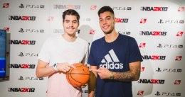 Presentado NBA 2K18 en Madrid con los Hernangómez de protagonistas