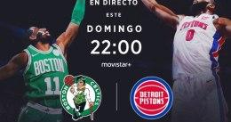 Pistons – Celtics, el duelo para el 'NBA Sunday' de hoy