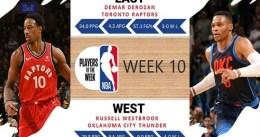DeRozan y Westbrook, Jugadores de la Semana