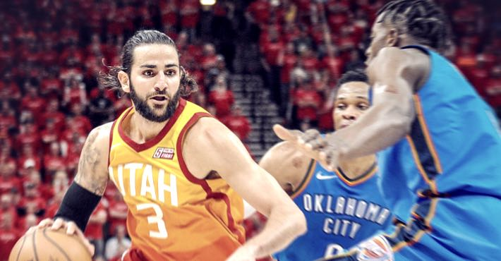 Ricky Rubio contra Russell Westbrook