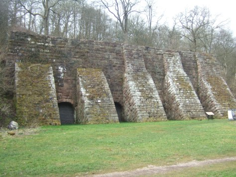 Remains of kilns