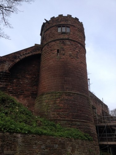 One of the many towers around the city wall.