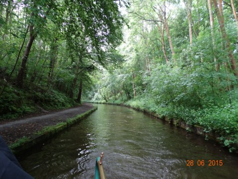 Travelling up the Llangollen canal
