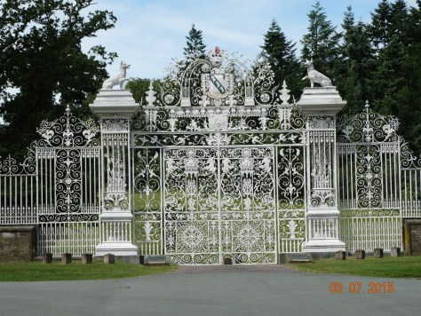 and finally the front gates that are closed to the public to enter the estate