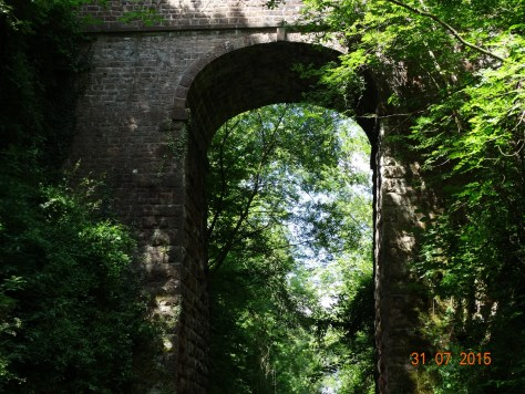 One of the many high bridges along the canal
