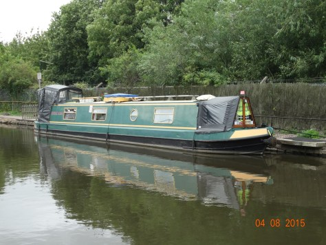 Breakaway on a linear mooring opposite Napton Narrowboat hire base.