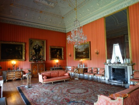 Living room. Apparently the Queen used to visit her cousin, and she took tea in this room.