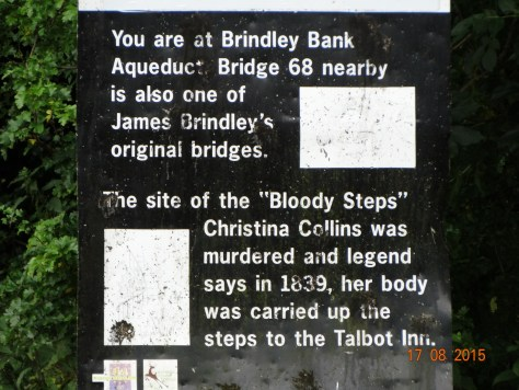 And finally the sign telling of the murder of Christina Collins that I reported in February when we passed the last time