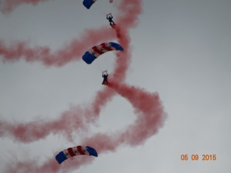 RAF Falcons parachute display team