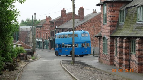 Buses, trams and vintage vehicles ferrying visitors around the site