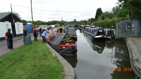 Moored at the top lock