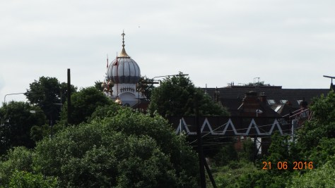 Seikh temple in the background
