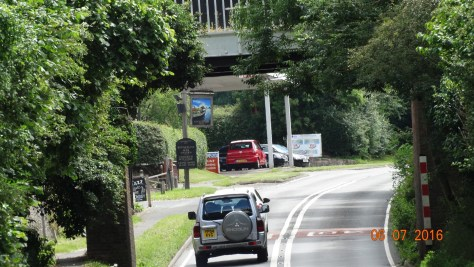 Picture showing the small  Wootten Wawen aqueduct over the A3400 road.